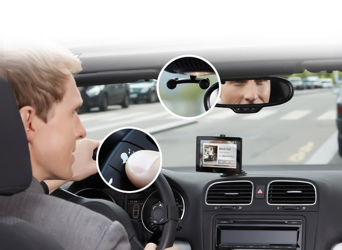 Автомобильный планшет с навигатором и задней камерой