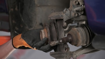 Снятие передней ступицы Opel Astra H
