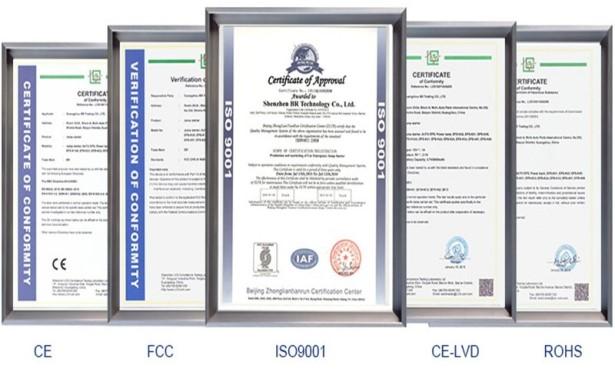 Сертификаты CHARGER