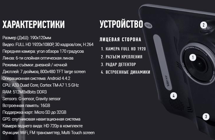 Автопланшет dvr fc-950 официальный сайт