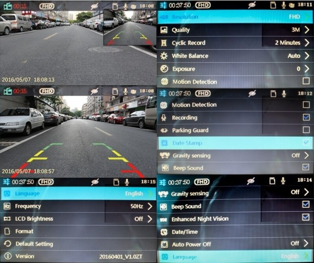 НастройкиCAR DVR MIRROR