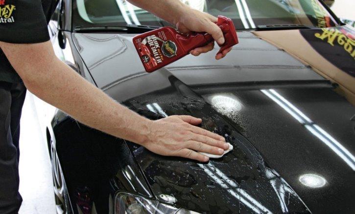 Обезжириватель для удаления царапин с корпуса автомобиля