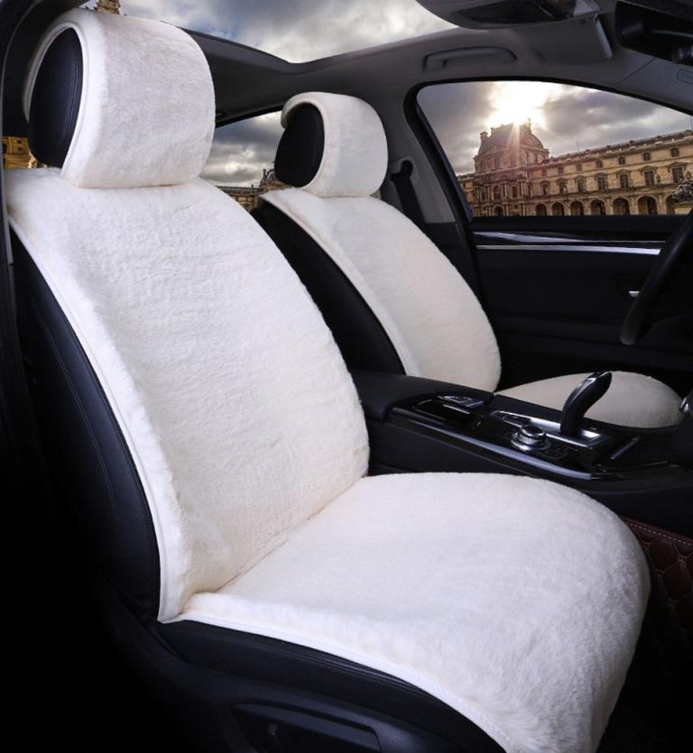 Меховые накидки на сиденье автомобиля дастер
