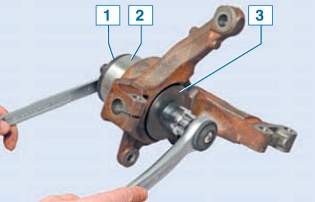 Замена переднего подшипника ступицы логан своими руками