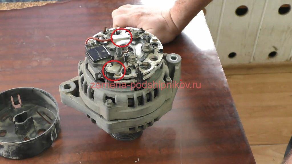 Ремонт генератора приора с кондиционером своими руками 51
