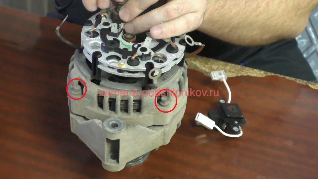 Ремонт генератора приора с кондиционером своими руками 65
