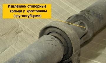 Снятие крестовины кардана ВАЗ 2107