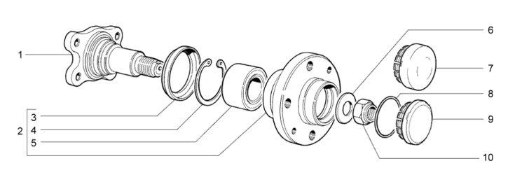 Схема устройства задней ступицы
